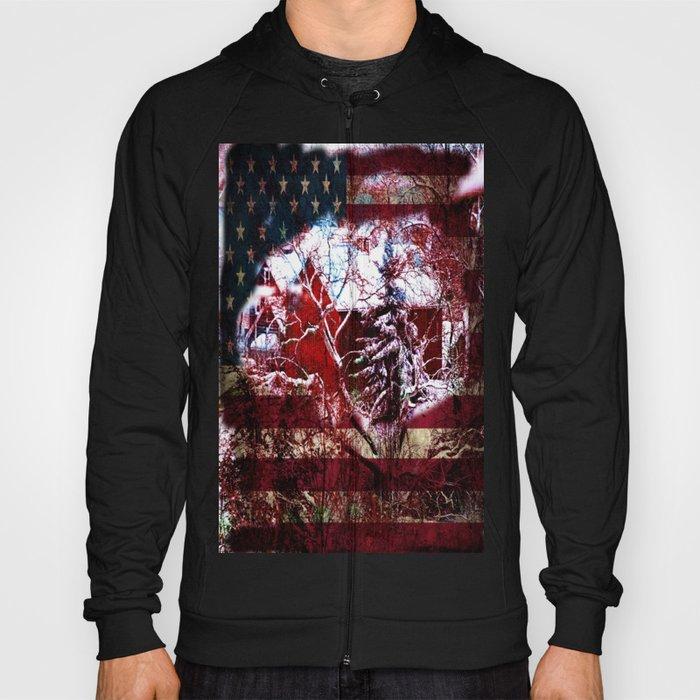 Patriotic American Barn Hoody