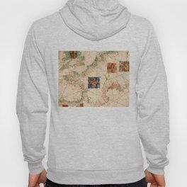 Vintage Map of France (1600) Hoody