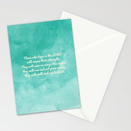 Hope in the Lord Bible Verse, Isaiah 40:31 Stationery Cards