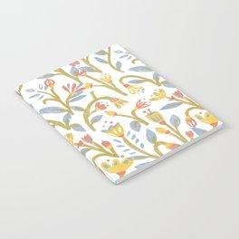 Bright Garden Pattern Notebook