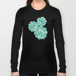 Rosette Succulents – Mint Palette Long Sleeve T-shirt