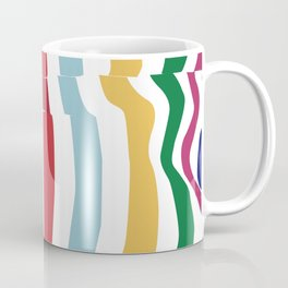 abstract stripes Coffee Mug