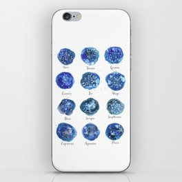Watercolor Zodiac Star Constellations iPhone Skin