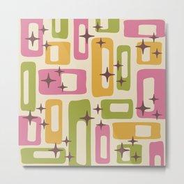 Retro Mid Century Modern Abstract Pattern 615 Metal Print