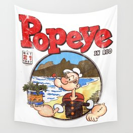 Popeye in Rio Wall Tapestry