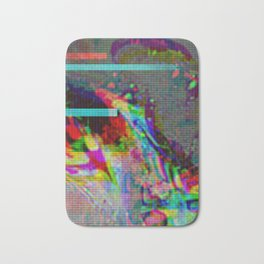 Brain Xray Glitch Art Bath Mat