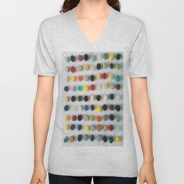 DAMIEN HIRSTED4 Unisex V-Neck