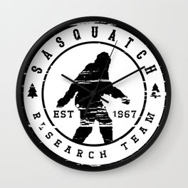 Sasquatch Research Team Wall Clock