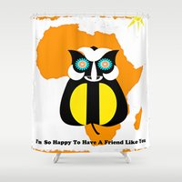friendship Shower Curtains featuring Friendship by Saundra Myles