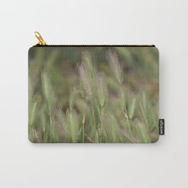 Wild Grass in Sage and Pink Lemonade Carry-All Pouch
