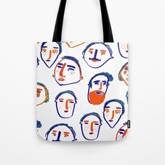 head, faces, face print, face art, people illustration, Tote Bag