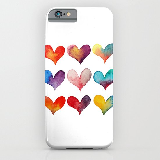 color of hearts iPhone & iPod Case