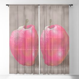 Apple Painting Sheer Curtain