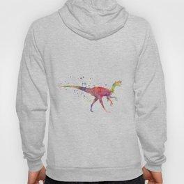 Oviraptor dinosaur in watercolor Hoody