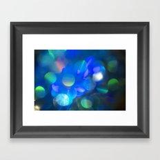 Bokeh in Blue Framed Art Print