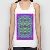 psychedelic art Tank Tops featuring PSYCHEDELIC flowers by 2sweet4words Designs