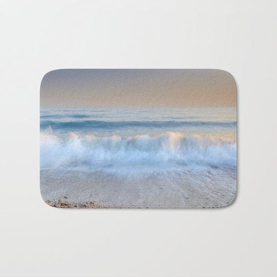"""Looking at the waves II"" Sea dreams Bath Mat"