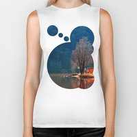 fishing Biker Tanks featuring Gone fishing | waterscape photography by Patrick Jobst