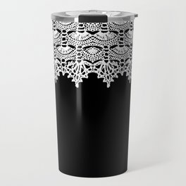 Doily - B&W Travel Mug