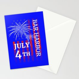 Bar Harbor 4th of July Independence Day Stationery Cards