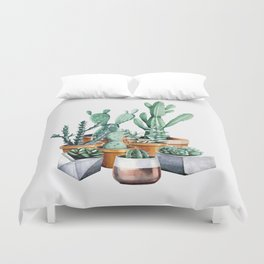 Potted Cacti Duvet Cover