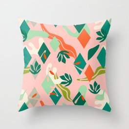 Abstract simple drawing 02 Throw Pillow