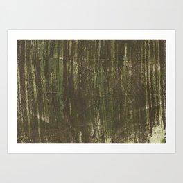 Marsh green abstract Art Print