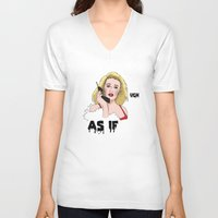 clueless V-neck T-shirts featuring Clueless by Steven Crissey