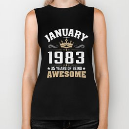 January 1983 35 years of being awesome Biker Tank