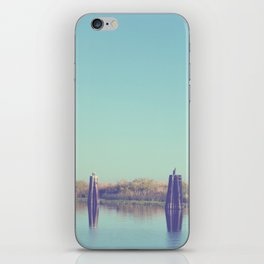 water and pilings iPhone Skin