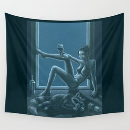 Tracy Queen: Royal Blues Wall Tapestry