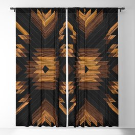 Urban Tribal Pattern No.7 - Aztec - Wood Blackout Curtain