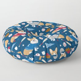 Corgi baseball themes sports dog fabric welsh corgis dog breeds gifts Floor Pillow