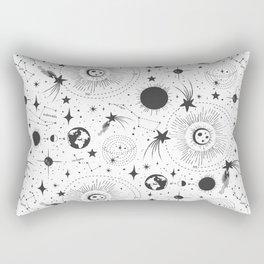 Solar System - White Rectangular Pillow