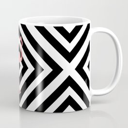 Flamingo - Abstract geometric pattern - black and white. Coffee Mug