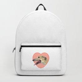 Greyhound drawing Backpack