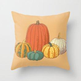 Fall Pumpkins Throw Pillow