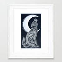 lunar Framed Art Prints featuring Lunar by MacGreen