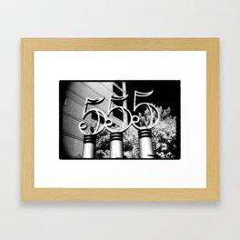 555 Framed Art Print