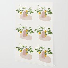 Lemon Branches Wallpaper
