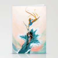 aang Stationery Cards featuring Katara and Aang by Imogen Scoppie