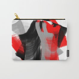 dancing abstract red white black grey digital art Carry-All Pouch
