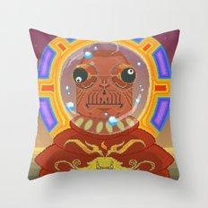 Great Konkkrorr of Spaitsss #pixelart #retro #scifi Throw Pillow