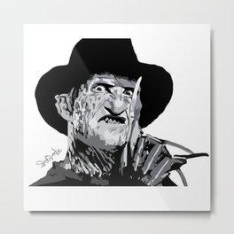 Freddie Krueger Metal Print