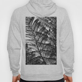 Black and White Fern Silhouette Pattern Hoody