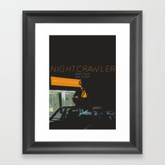NIGHTCRAWLER Framed Art Print