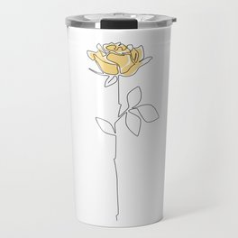 Lemon Rose Travel Mug