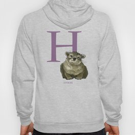 H is for Hyrax: Under Appreciated Animals™ ABC nursery kids room decor yellow unusual animals Hoody