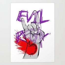 Evil Regal2 Art Print