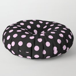 Polka Dots (Pink & Black Pattern) Floor Pillow